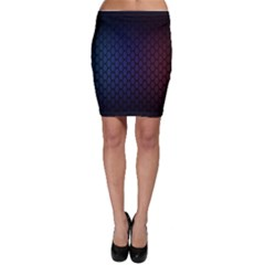 Hexagon Colorful Pattern Gradient Honeycombs Bodycon Skirt