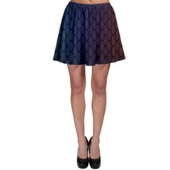 Hexagon Colorful Pattern Gradient Honeycombs Skater Skirt