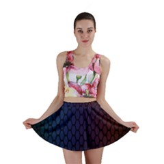 Hexagon Colorful Pattern Gradient Honeycombs Mini Skirt