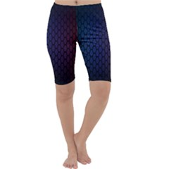 Hexagon Colorful Pattern Gradient Honeycombs Cropped Leggings