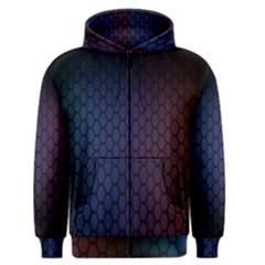 Hexagon Colorful Pattern Gradient Honeycombs Men s Zipper Hoodie