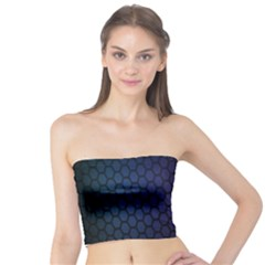 Hexagon Colorful Pattern Gradient Honeycombs Tube Top