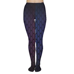 Hexagon Colorful Pattern Gradient Honeycombs Women s Tights