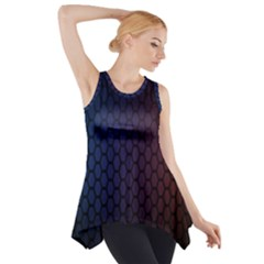Hexagon Colorful Pattern Gradient Honeycombs Side Drop Tank Tunic
