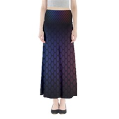 Hexagon Colorful Pattern Gradient Honeycombs Maxi Skirts