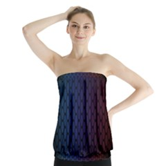 Hexagon Colorful Pattern Gradient Honeycombs Strapless Top