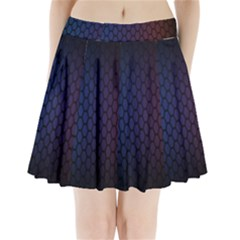 Hexagon Colorful Pattern Gradient Honeycombs Pleated Mini Skirt