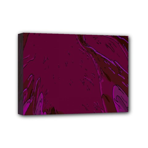 Abstract Purple Pattern Mini Canvas 7  X 5