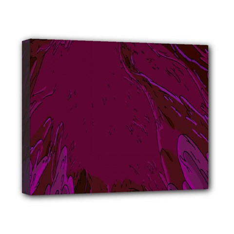 Abstract Purple Pattern Canvas 10  X 8