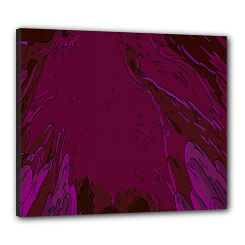 Abstract Purple Pattern Canvas 24  X 20