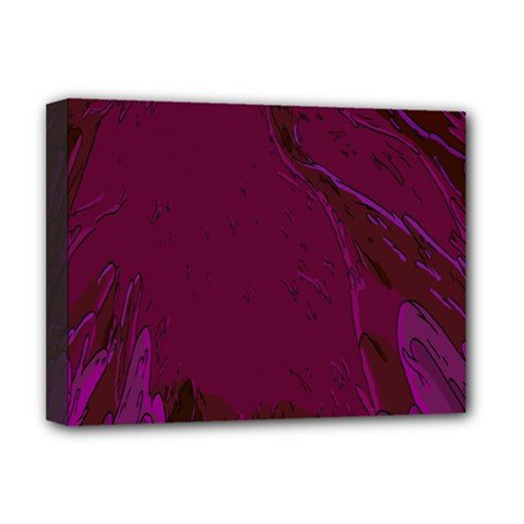 Abstract Purple Pattern Deluxe Canvas 16  X 12