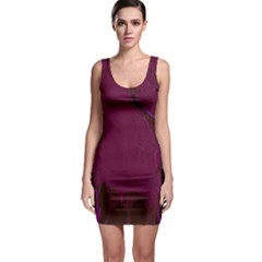 Abstract Purple Pattern Sleeveless Bodycon Dress