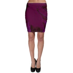 Abstract Purple Pattern Bodycon Skirt