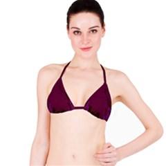 Abstract Purple Pattern Bikini Top