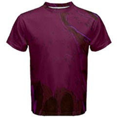 Abstract Purple Pattern Men s Cotton Tee