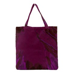 Abstract Purple Pattern Grocery Tote Bag