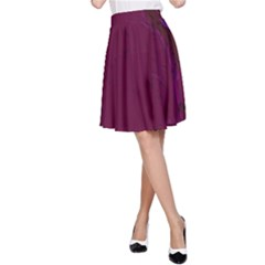 Abstract Purple Pattern A-Line Skirt