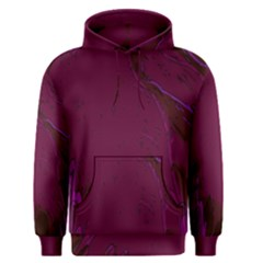 Abstract Purple Pattern Men s Pullover Hoodie
