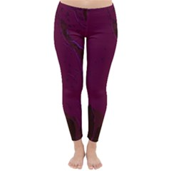 Abstract Purple Pattern Classic Winter Leggings