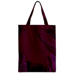 Abstract Purple Pattern Zipper Classic Tote Bag