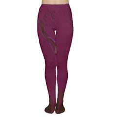 Abstract Purple Pattern Women s Tights