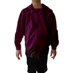 Abstract Purple Pattern Hooded Wind Breaker (Kids)
