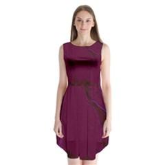 Abstract Purple Pattern Sleeveless Chiffon Dress