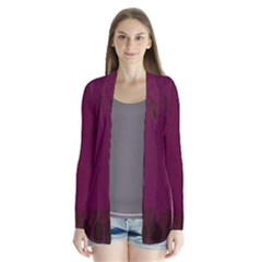 Abstract Purple Pattern Cardigans