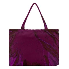 Abstract Purple Pattern Medium Tote Bag