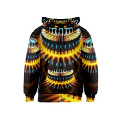 Abstract Led Lights Kids  Zipper Hoodie