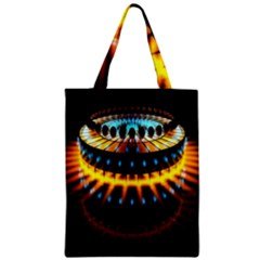Abstract Led Lights Zipper Classic Tote Bag