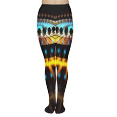 Abstract Led Lights Women s Tights