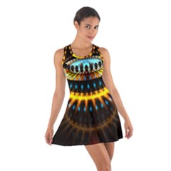 Abstract Led Lights Cotton Racerback Dress