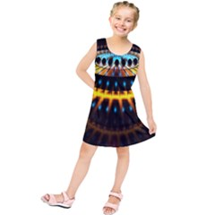 Abstract Led Lights Kids  Tunic Dress