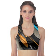 Abstract 3d Sports Bra