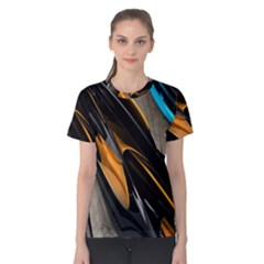 Abstract 3d Women s Cotton Tee
