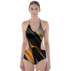 Abstract 3d Cut Out One Piece Swimsuit