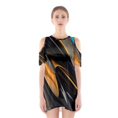 Abstract 3d Shoulder Cutout One Piece