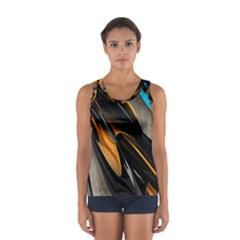 Abstract 3d Women s Sport Tank Top