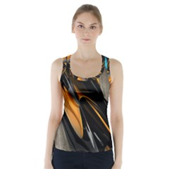 Abstract 3d Racer Back Sports Top