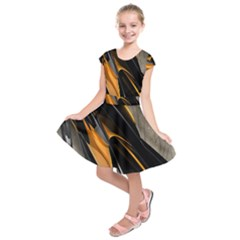Abstract 3d Kids  Short Sleeve Dress