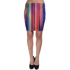 Texture Lines Vertical Lines Bodycon Skirt