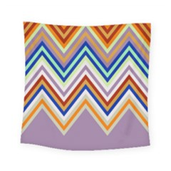 Chevron Wave Color Rainbow Triangle Waves Grey Square Tapestry (small)