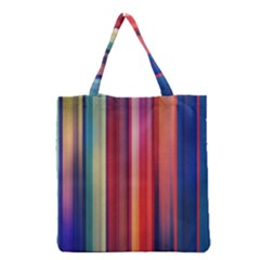 Texture Lines Vertical Lines Grocery Tote Bag