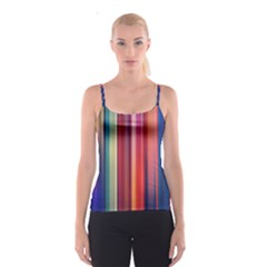Texture Lines Vertical Lines Spaghetti Strap Top
