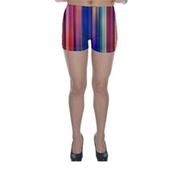 Texture Lines Vertical Lines Skinny Shorts