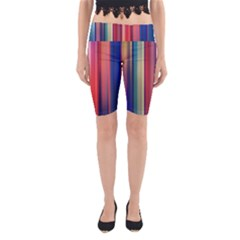 Texture Lines Vertical Lines Yoga Cropped Leggings