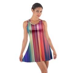 Texture Lines Vertical Lines Cotton Racerback Dress