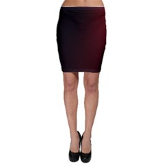 Abstract Dark Simple Red Bodycon Skirt