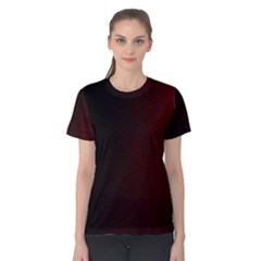 Abstract Dark Simple Red Women s Cotton Tee